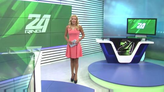 Николета Маданска води централните новини на обновения спортен канал Ринг.
