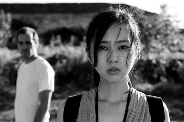 """Руши Виденлиев и японката Кики Сугино в """"Снимка с Юки""""."""