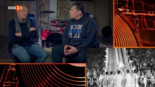 """Косьо Марков и водещият Васил Върбанов в """"Моят плейлист"""" – нещо като радиопредаване с картина всеки вторник вечер."""